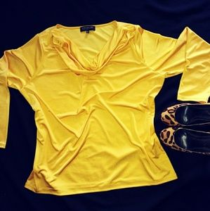 Jones new york yellow long sleeve top 2x
