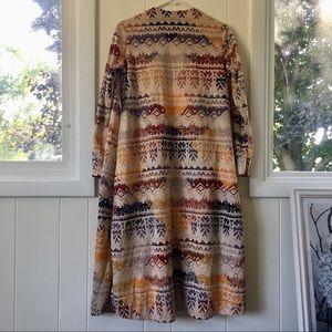 LuLaRoe Sweaters - NWT LuLaRoe Sarah Cardigan M Fall Aztec Jacquard