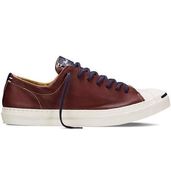 d4c02f9a473e Converse Shoes - Converse leather jack Purcell brown OX shoes women