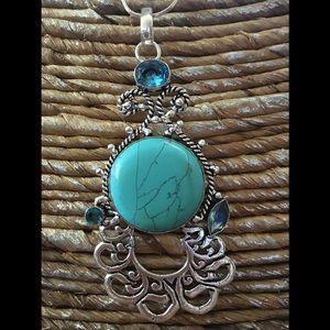 Jewelry - 🛍🌸AMAZING Turquoise and Blue Topaz Pendant❤️NEW