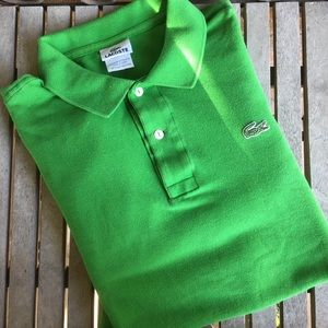 Authentic Lacoste Green Long Sleeve Polo Shirt