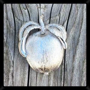 Sarah Coventry Solid Apple Brooch! Vtg?