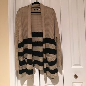 BDG striped open cardigan