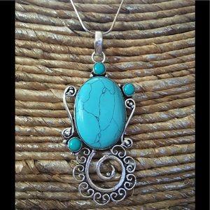 Jewelry - 🛍🌼TURQUOISE PENDANT✨NEW✨
