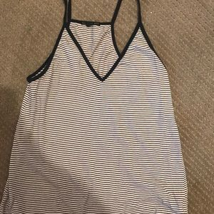 Navy and White Striped Tank
