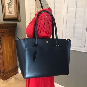 Parker Leather Tote TORY BURCH