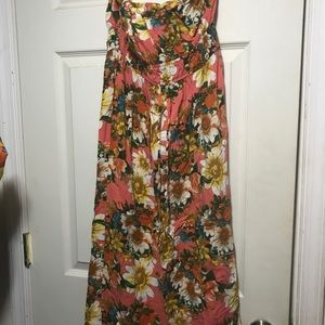 Strapless Maxi Dress size Medium Floral print
