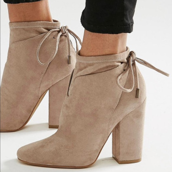 1ddb7263f063 Kendall   Kylie Shoes - Kendall And Kylie Suede Tie Back Ankle Boots