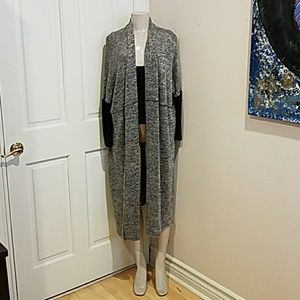 Silence+noise Long Gray Cardigan size small