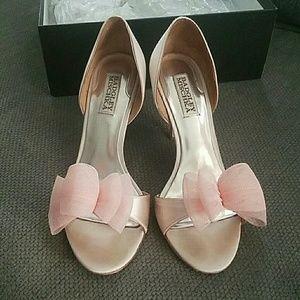 Badgley Mischka Xango II Pink Blush Wedding Heels