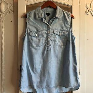 Talbots light denim blouse