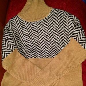 NWOT Joe Fresh oversized tan sweater Size S