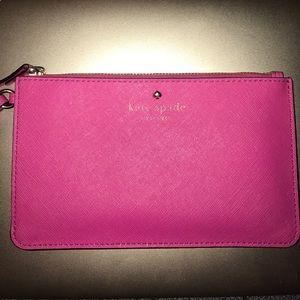 Kate spade wallet/ wristlet hot pink VGUC