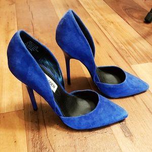 Blue Suede Sthilletos. Steve Madden.