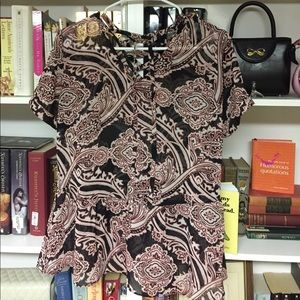 Cato pink and black blouse Size S
