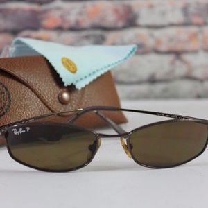 Ray Ban Polarized Lens Rectangular Sunglasses
