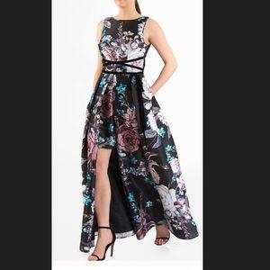 New Eshakti Floral Fit & Flare Maxi Dress XL 18