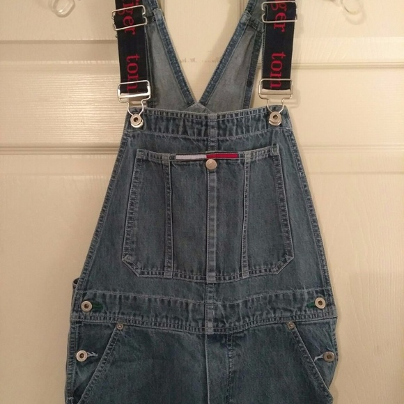 0f6d7827 Tommy Hilfiger Jeans Spell Out Denim Overalls. M_59c59d6241b4e058a6046a01
