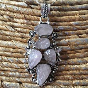 Jewelry - 🎈✨Rough Rose Quartz Pendant🌷NEW