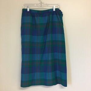Vintage 70's Pendleton Plaid Midi Skirt