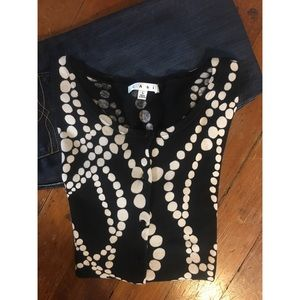 CAbi Strands of Pearls Sweater - Size Large