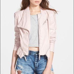 BLANKNYC Blush Pink Faux Leather Jacket
