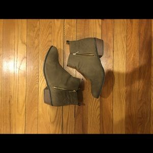 Just Fab tan booties size 9