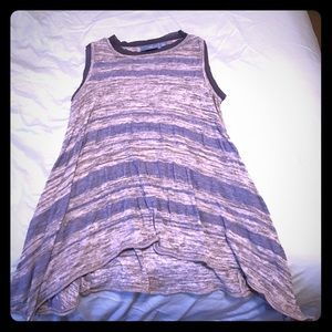 Simply Vera sweater tank periwinkle gray stripes M