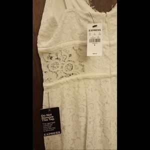 Express Lace White Dress