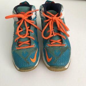 check out 8e666 46d3f ... usa nike shoes nike lebron 12 buckets basketball shoes u2022 size 13  fc2df ef4a3 australia cheap sell nike lebron 12 buckets clearwater blue  lagoon ...