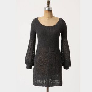 Anthropologie gray sweater dress/tunic -size large