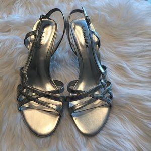 Kelly & Katie Shoes - Silver Kelly & Katie heels, size 7.5