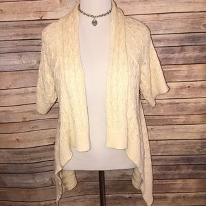 Banana Republic Cream High Low Open Cardigan