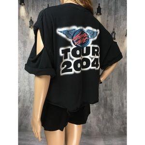 TRAVIS TRITT 2004 REWORKED DISTRESSED TOUR SHIRT!!