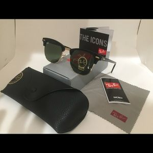 Ray-ban clubmasters g15 lens black frame