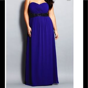 NWT City Chic strapless evening gown