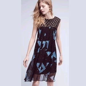 Anthropologie Lydia Beaded Swing Dress