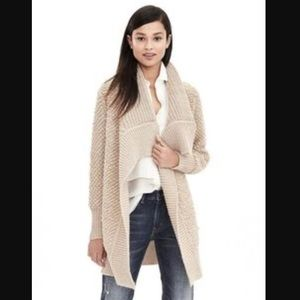 Banana Republic Textured Long Sweater Cardigan
