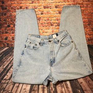 Vintage light wash Eddie Bauer mom jeans