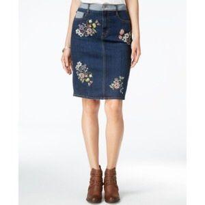 Buffalo David Bitton embroidered denim skirt NWOT