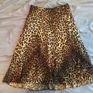 Jones New York Leopard Circle Skirt
