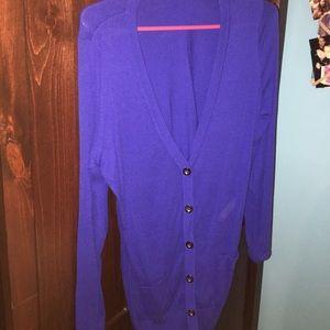 BLUE (looks indigo in pics) cardigan
