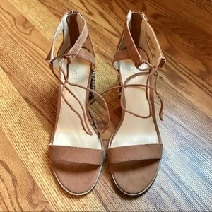 {nine west} Bemybae brown heeled sandals