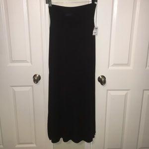 Charlotte black maxi skirt.
