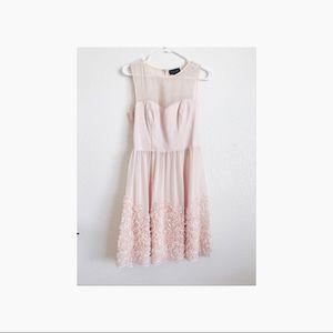 Prom dress ASOS blush pink chiffon dress