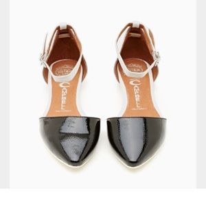 Pointed toe flats. Jeffrey Campbell