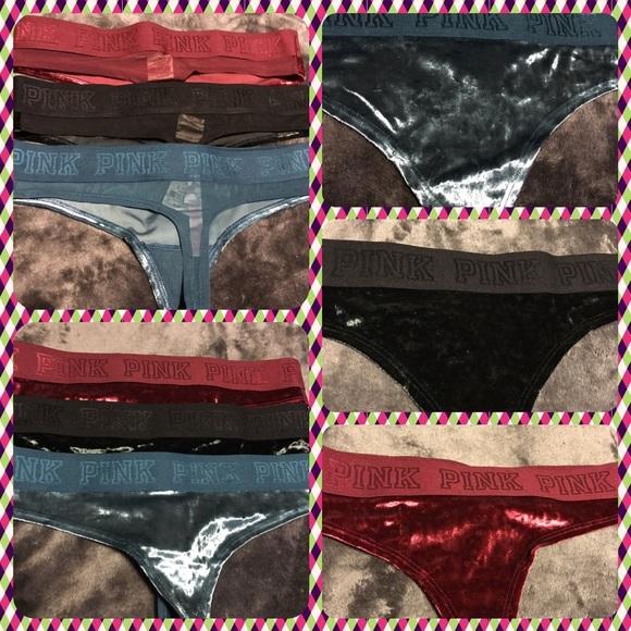 4f54db9024ba2 BNWT Pink Victoria s Secret Velvet Panty bundle