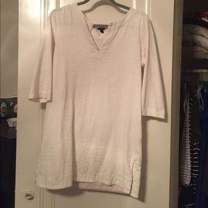 Cream colored tunic, jcrew (holiday '13)