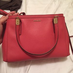 Coach satchel mini small double zip