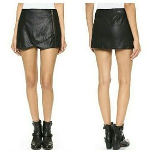 Free People Faux Leather Mini Skirt with shorts